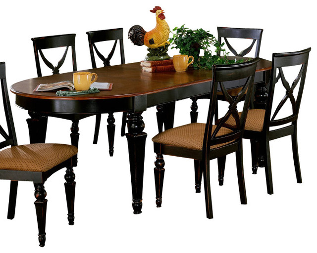 Hillsdale Northern Heights 64x42 Dining Table With Two 14 Inch Leaves  Traditional Dining Tables
