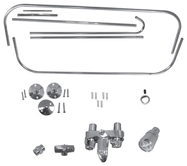 addashower kit for clawfoot tub in chrome