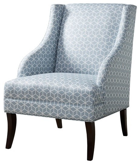 Riley Swoop Arm Chair Blue Contemporary Armchairs And