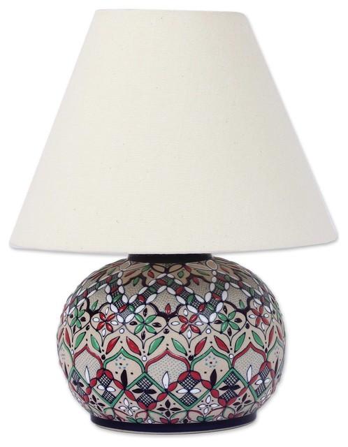 Guanajuato Crocus Ceramic Table Lamp.