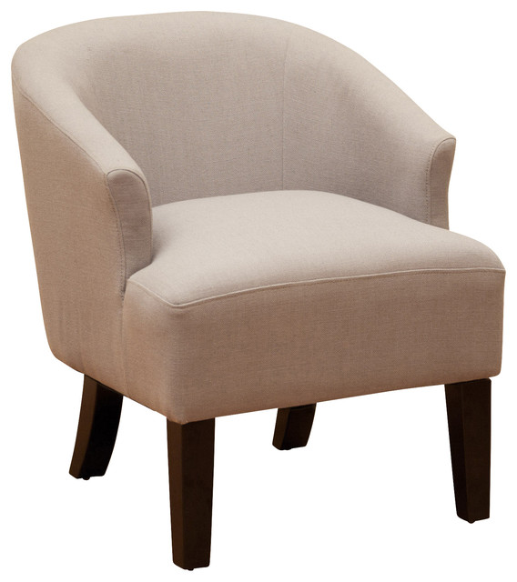 Luciana Linen Accent Chair Transitional Armchairs And
