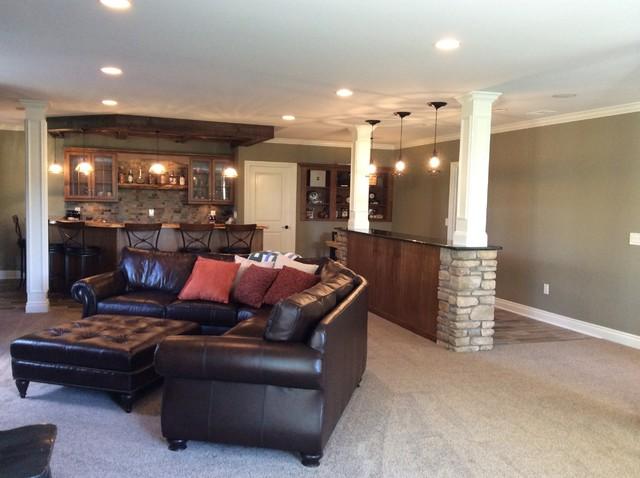transitional finished basement northville michigan