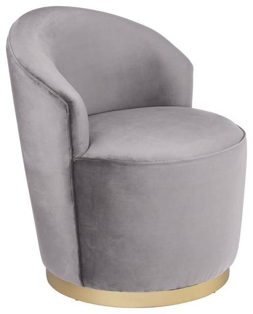 Admirable Zoey Arm Chair Gray Velvet Evergreenethics Interior Chair Design Evergreenethicsorg