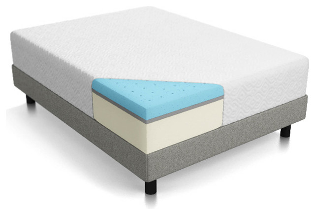 Dewey Triple Layer Gel Memory Foam Mattress, Full.