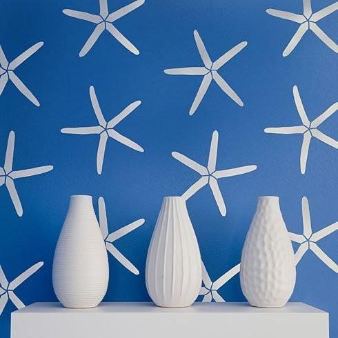 Starfish Allover Stencil Pattern Reusable Stencils For Walls DIY Wall Decor
