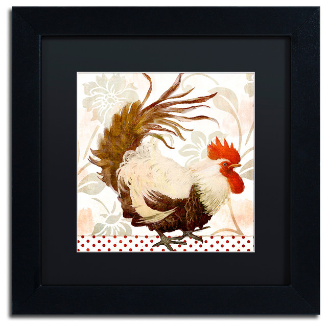 Color Bakery Rooster Damask Ii Art Farmhouse Prints And