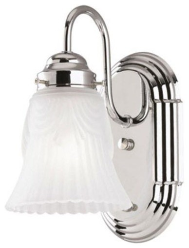 Westinghouse 1 Light Wall Mount Chrome Fixture With On Off Switch