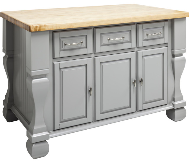 "Jeffrey Alexander Kitchen Island 52-5/8"" X 32-3/8"" X 35-1/4"" Gray, No Top."