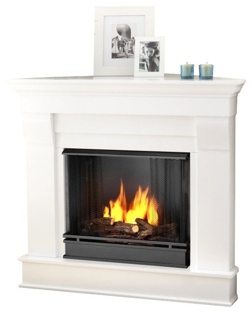 Real Flame Chateau Gel Corner Fireplace Traditional