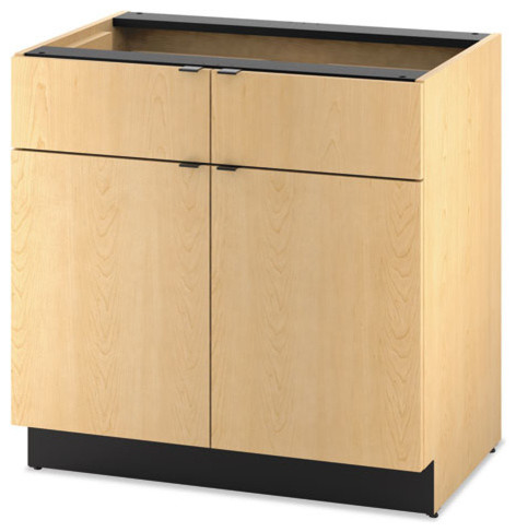 Hon Hospitality Double Base Cabinet, Two Doors/Drawers  Contemporary Kitchen Cabinetry