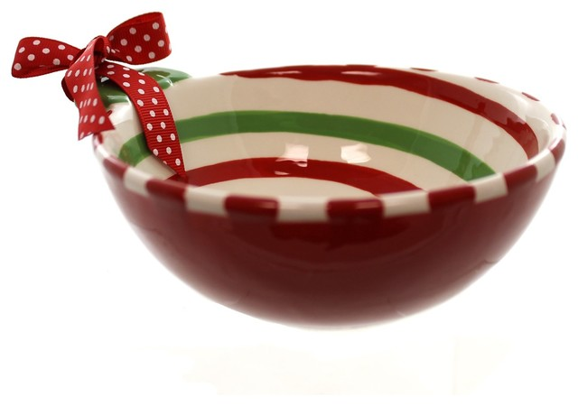 tabletop swirl bowl ceramic christmas candy dish