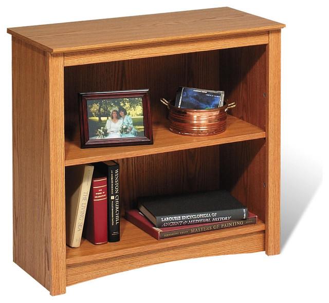 Prepac Oak 2-Shelf Bookcase