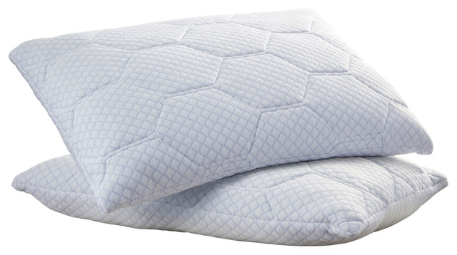 Arctic Sleep by Pure Rest Cooling Gel Reversible Memory Foam Loft Pillow - Contemporary - Sheets ...