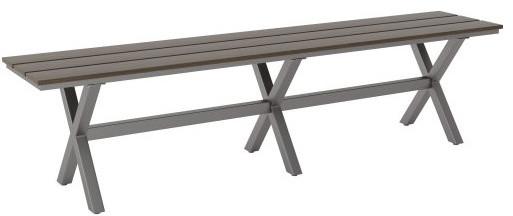 Bodega Bench, Industrial Gray & Brown.
