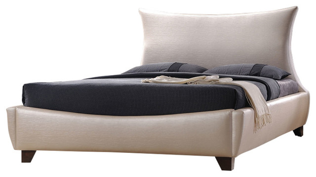 Acme Galton Eastern King Bed, Pearl Pu.