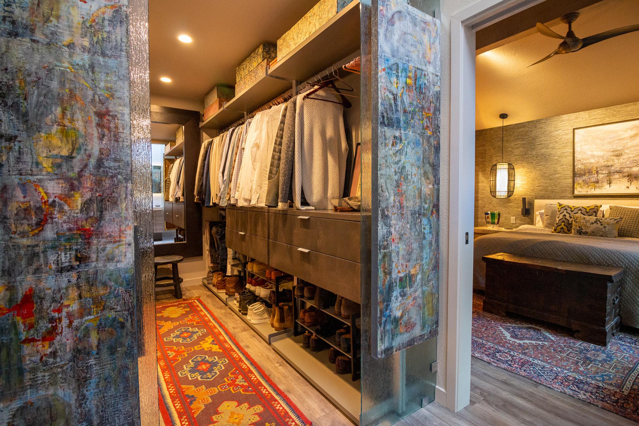 Contemporary Treehouse Master Bedroom & Closet