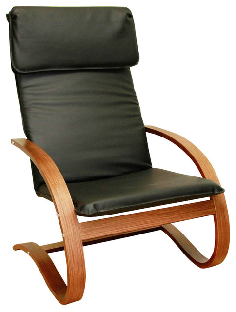 Stockholm Contemporary Bentwood Lounge Chair