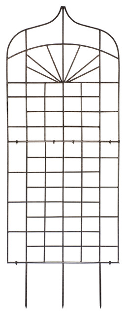Large Ogee Trellis, Wrought Iron, Weather Resistant