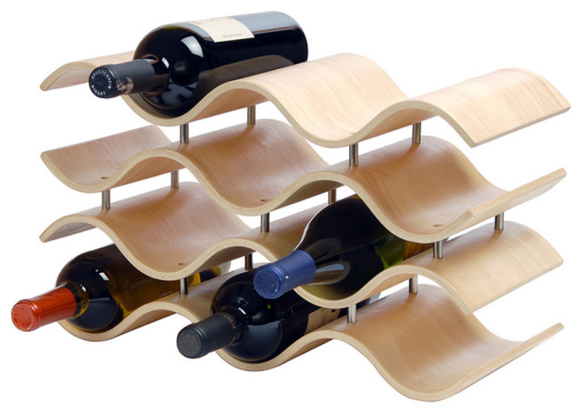 Ebony Bali 10-Wine Rack, Wood.