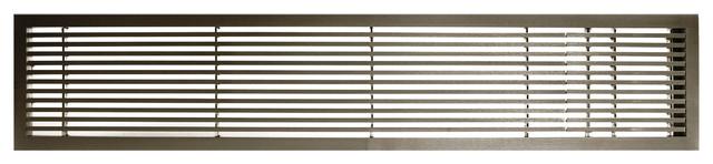 "Ag20 Series 6""x 36"" Right Door Solid Aluminum Fixed Bar, Antique Bronze Finish."