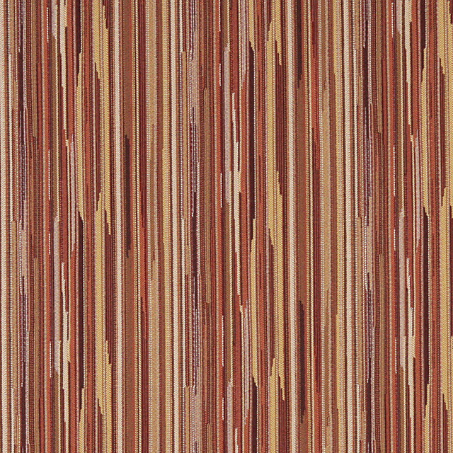 Orange Brown Ivory Abstract Striped Contract Upholstery Fabric By The Yard