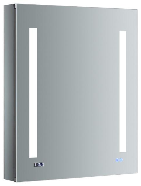 """Tiempo 24""""x30"""" Bathroom Medicine Cabinet With Led Lighting And Defogger, Mirror."""