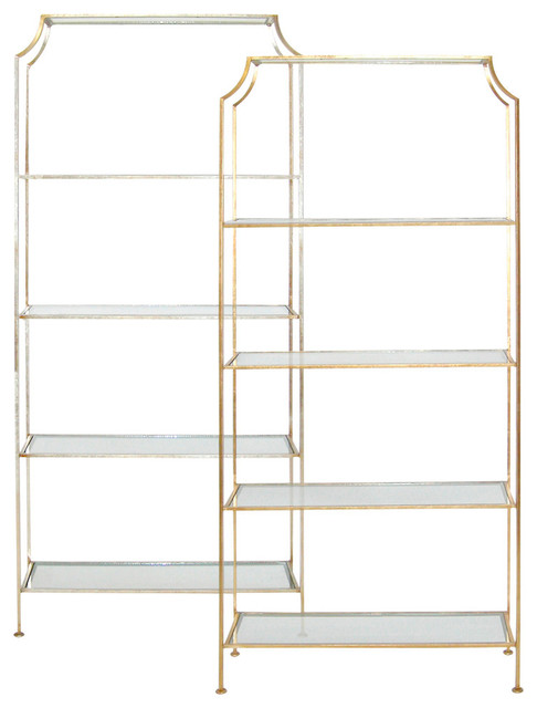 Etagere with glass contemporary display and wall for Contemporary display shelves