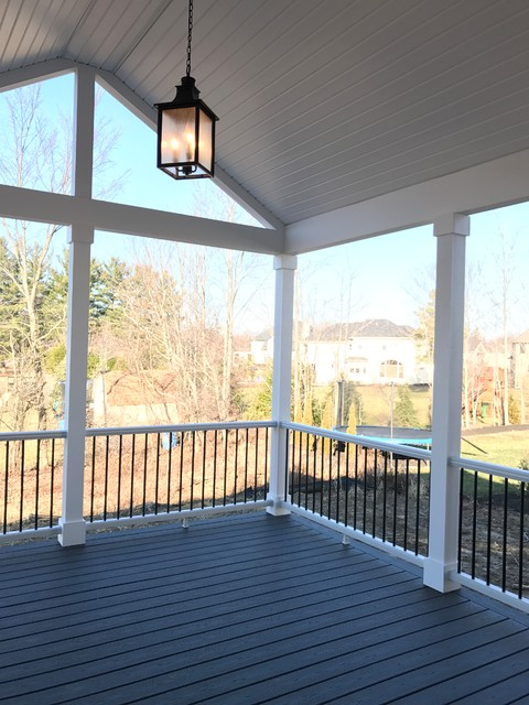 This is an example of a traditional porch design in Cleveland.