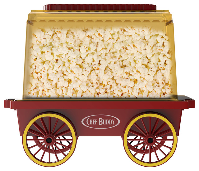 Tabletop Popcorn Machine- Vintage, Retro Theater Style Popper By Chef Buddy.