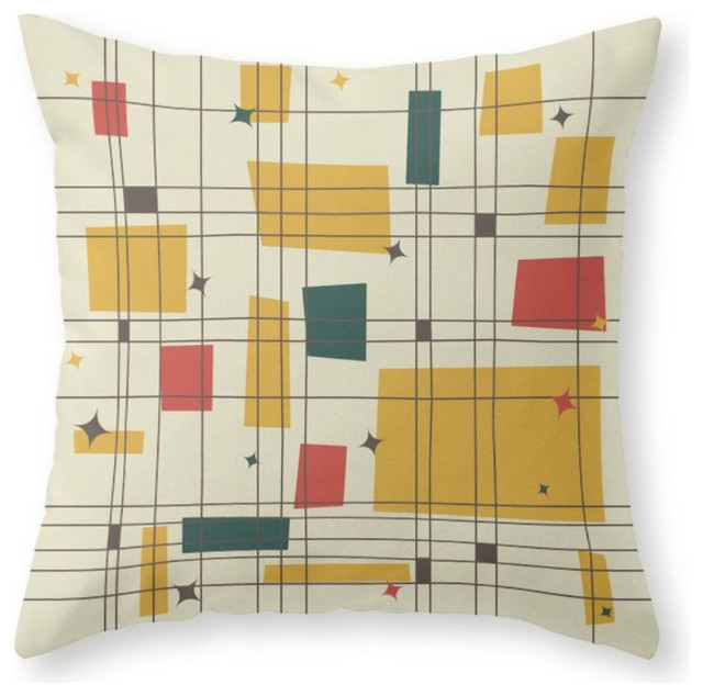 Mid-Century Modern Pillow Cover, 18\