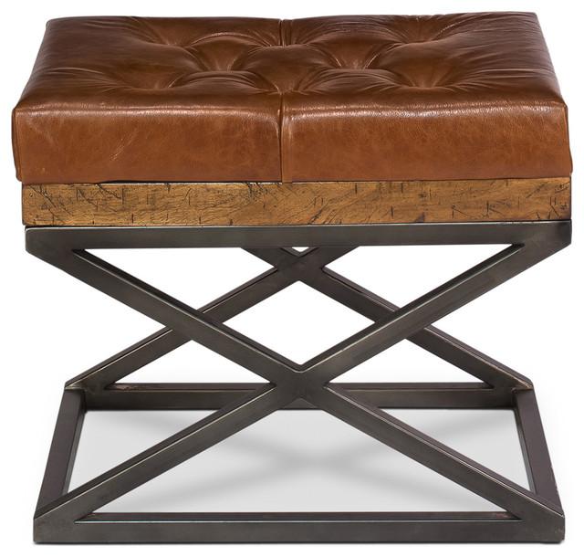 Sarreid Leather Cushion Bench.