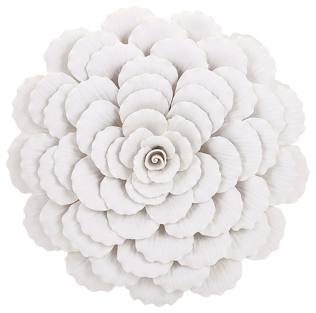 Evington Small Porcelain Wall Flower Contemporary Wall
