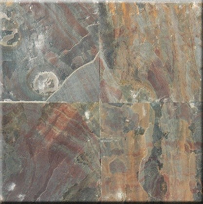 "Multi Select Cleft Finish Slate Floor & Wall Tiles 12"" X 12"" -  Lot Of 200 Tiles."