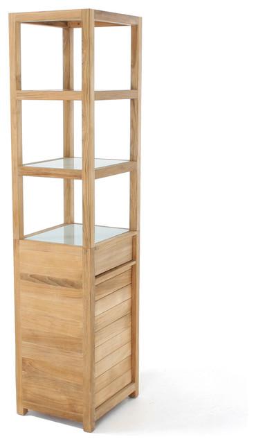 Pacifica Teak Bathroom Organizer - Contemporary - Bathroom Cabinets And Shelves - Orange County ...