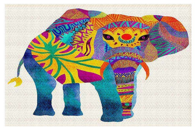 area rugs from dianoche by pom graphic design, whimsical elephant