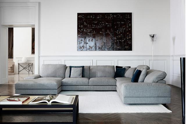 swan italia hamlet large corner sofa contemporary