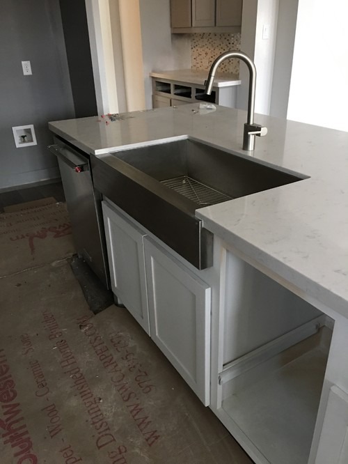 Apron Front Sink Installed Incorrectly