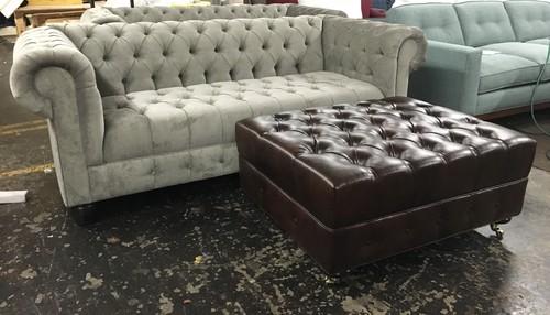Custom Chesterfield Sofa Ottoman