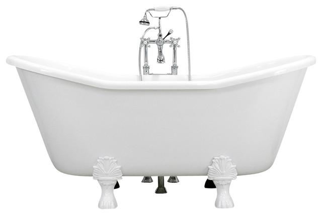 Nice Bateau Claw Foot Tub, White Traditional Bathtubs