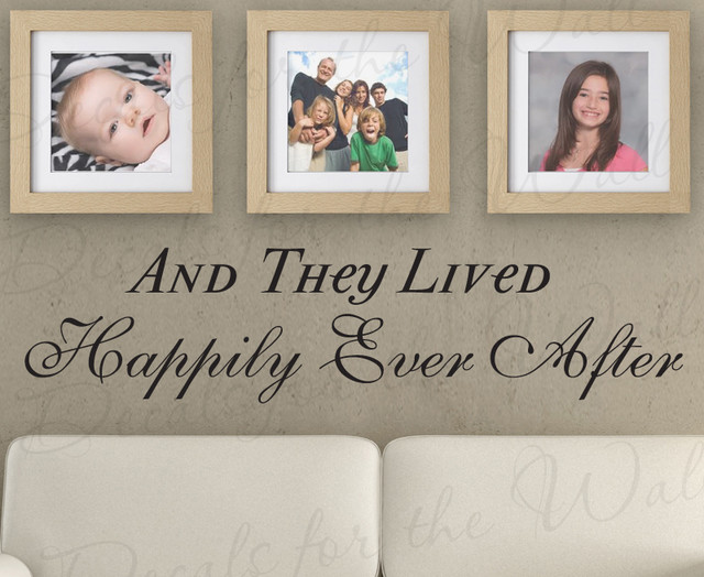 Wall Sticker Decal Quote Vinyl Art They Lived Happily Ever After