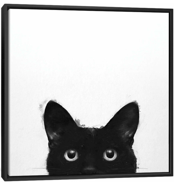 """""""Are You Awake Yet"""" by Laura Graves Black Framed Canvas Print, 18""""x18"""""""