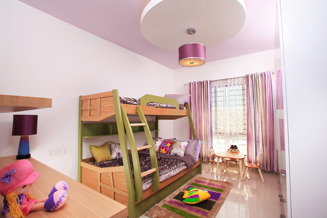 Kids bunk bed toy storage contemporary kids for Wall bed bangalore