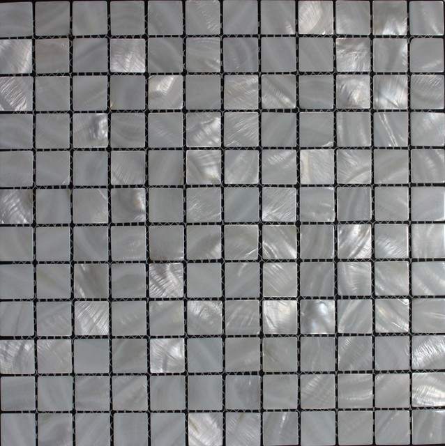 12 52 x12 52  White Oyster Square Mother of Pearl White Mosaic Backsplash  Tile. 12 52 x12 52  White Oyster Square Mother of Pearl White Mosaic