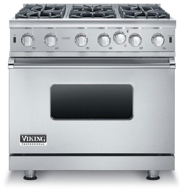 "Viking Gas Freestanding Range Open Burners, 36"""