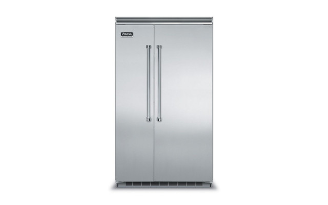 Viking 48 Side-By-Side Refrigerator/freezer, Stainless Steel.