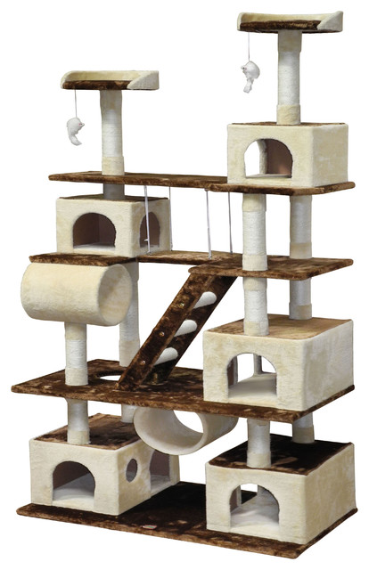 Cat Tree House With Swing