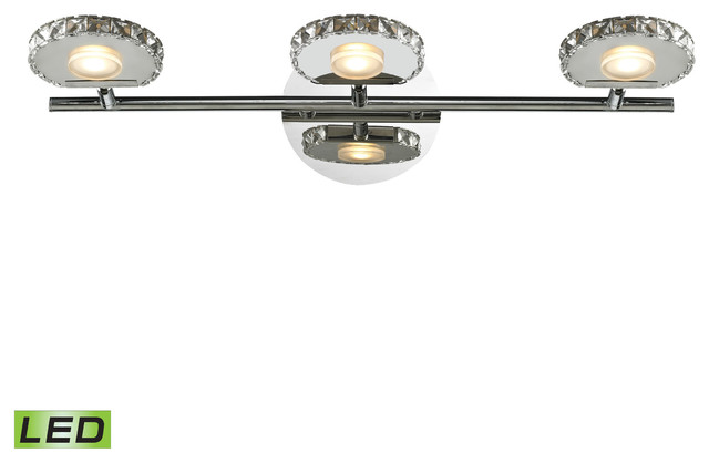 Spiva Collection 3-Light Bath, Polished Chrome