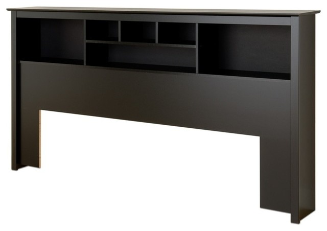 Prepac Black King Bookcase Headboard.