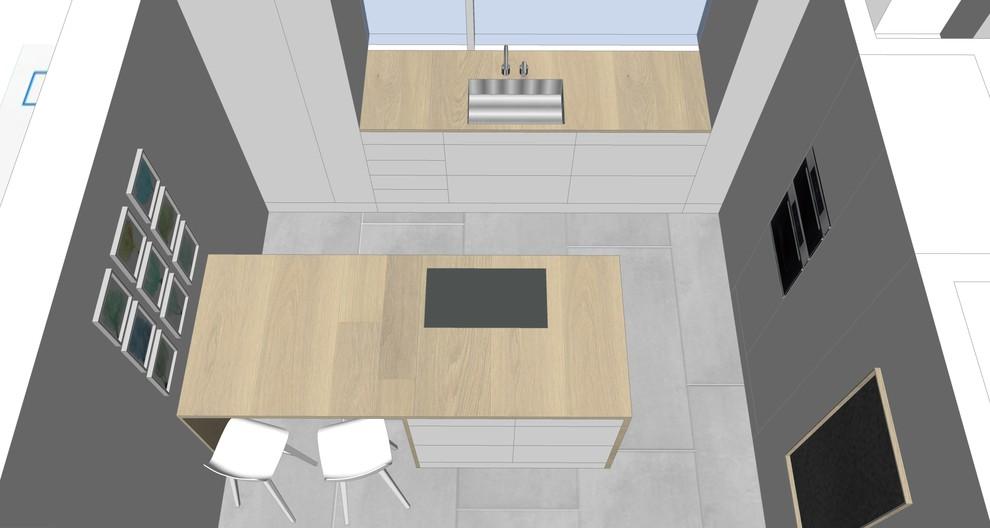 Geschlossene Küche mit Insel Bild 5