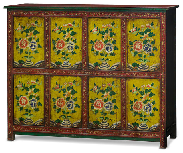 Hand Painted Tibetan Chest Asian Accent Chests And Cabinets By China Furniture Arts